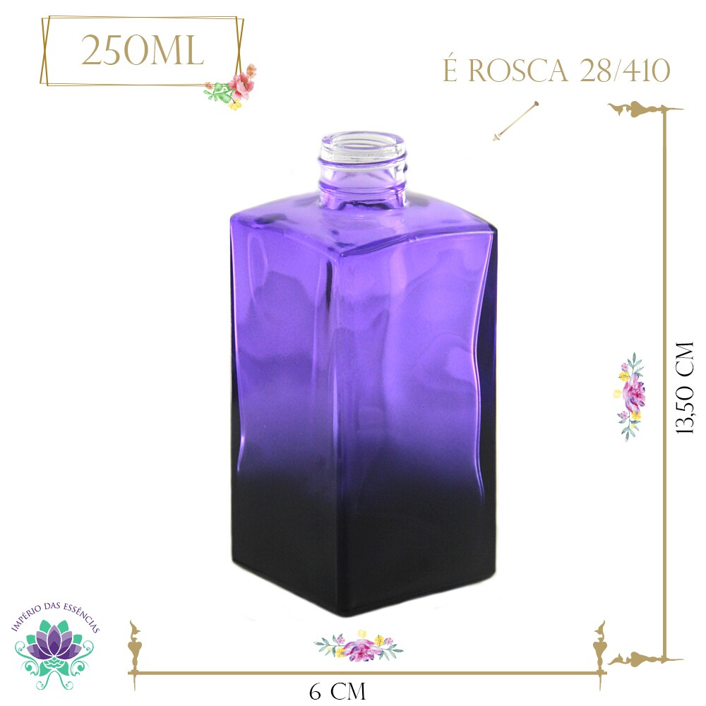 Vidro Paris Lilás Degradê 250ml Rosca 28/410 (1un)