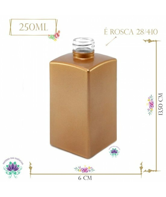 Vidro Paris Bronze 250ml Rosca 28/410 (UN)