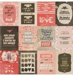 Etiqueta Adesiva Scrap Love (PC)