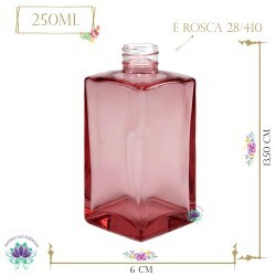 Vidro Paris Rosa 250ml Rosca 28/410 (1un)