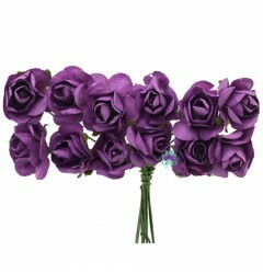 Mini Flor Papel Roxo (12UN)