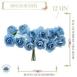 Mini Flor Papel Tifany (12UN)