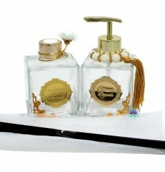 Kit Cubo 280ml Transparente Ouro Etiqueta Ouro