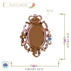 Placa Metal Foto Rose  (5UN) MLAB68CO