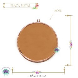 Placa Metal Oval Rose (5UN) MLAB69CO