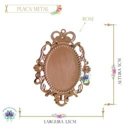 Placa Metal Foto Rose Lisa (5UN) MLAB01CO
