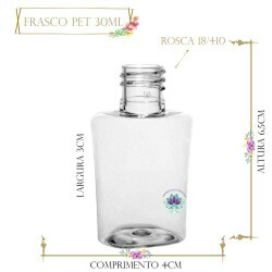 Frasco 30ml Pet Bela sem Tampa Rosca 18/410 (1un)