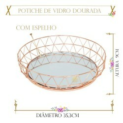 DOCEIRA REDONDA DIAMANTE ROSE 35CM(REF.QA-107CO)