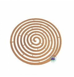 Placa de Metal Cobre Espiral (4Un) (REF.9603CO)
