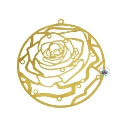 Placa de Metal  Rosa Dourado Estilo (4Un) (REF.2229DO)