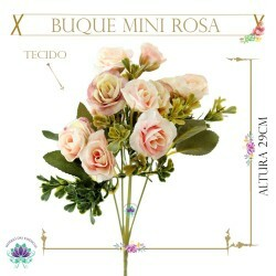 Buque Mini Rosa Env. C15 Tecido 29cm (LP000157) (1Un)