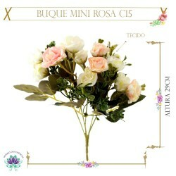 Buque Mini Rosa C15 Tecido 29cm (LP000170) (1Un)