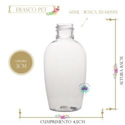 Frasco 60ml Pet Tulipa Sem Tampa Rosca 20/410 (1un)