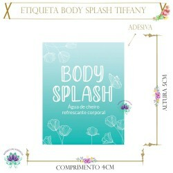 Etiqueta Body Splash Tiffany (20un)
