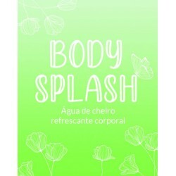 Etiqueta Body Splash Verde (20un)