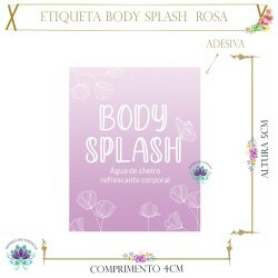 Etiqueta Body Splash Rosa (20un)