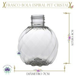 Frasco 150ml Pet Bola Espiral Cristal Rosca 24/410 (1un)