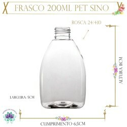 Frasco 200ml Pet Sino Sem Tampa Rosca 24/410 (1un)