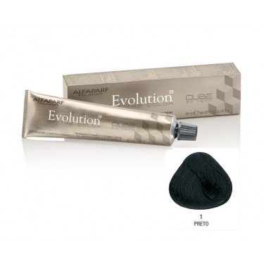 Coloração Alfaparf Evolution 1 Preto - 60ml