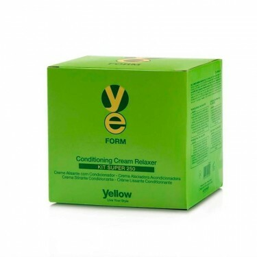 Creme Alisante Yellow Form Cream Relaxer Kit Super  - 250g