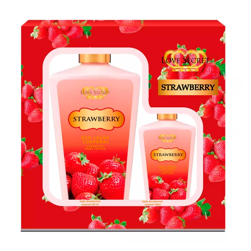 Kit Loção Corporal Love Secret Strawberry - 250ml + 60ml