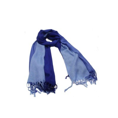 Pashmina Degradê Azul Royal de Lã (3800)
