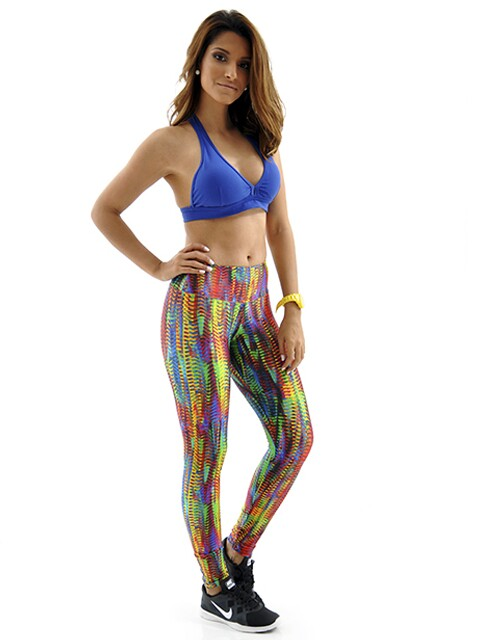 Calça Legging Estampada Sunset Mama Latina