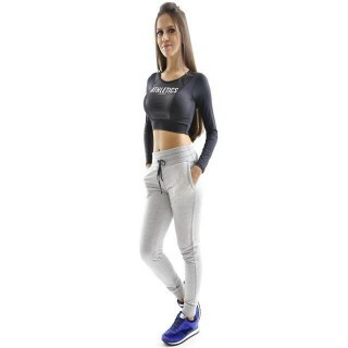 Top Cropped Manga Longa Flexim Atletics Mama Latina