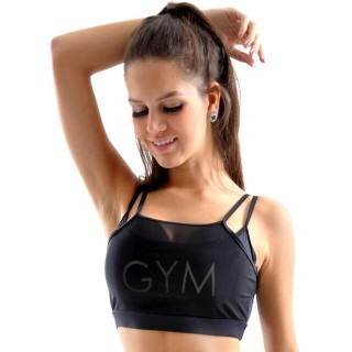 Top Cropped Tule Gym Mama Latina