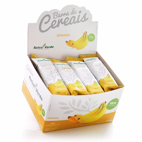 Barras de Cereais Banana - Caixa com 12 Displays