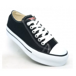 Tenis All Star Plataforma Preto