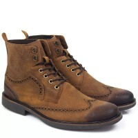BOTA BROGUE BLACK BOOTS OXFORD HAVANA