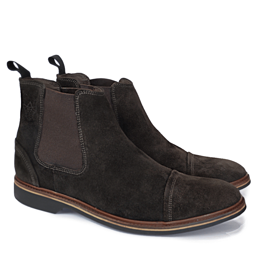 BOTA CHELSEA BLACK BOOTS VIRGINIA CAMURÇA BROWN