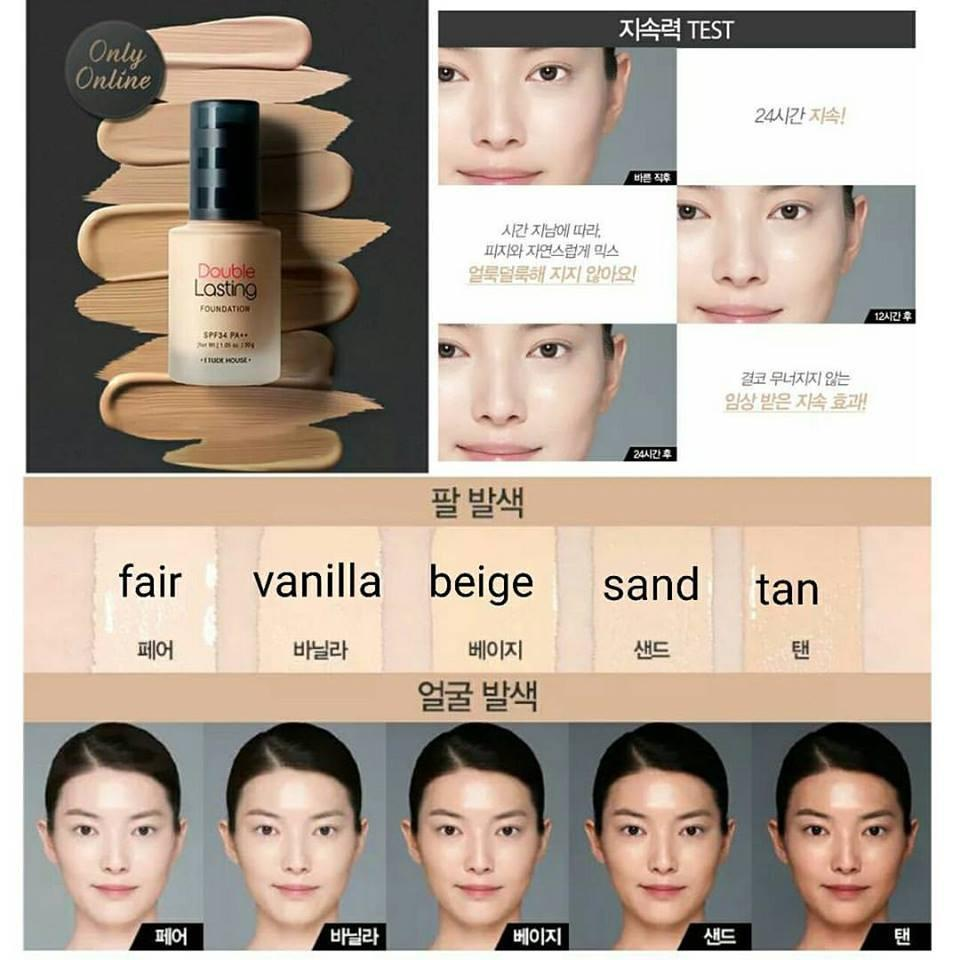 ETUDE HOUSE *  Double Lasting Foundation SPF34 PA++ 30g  #Tan