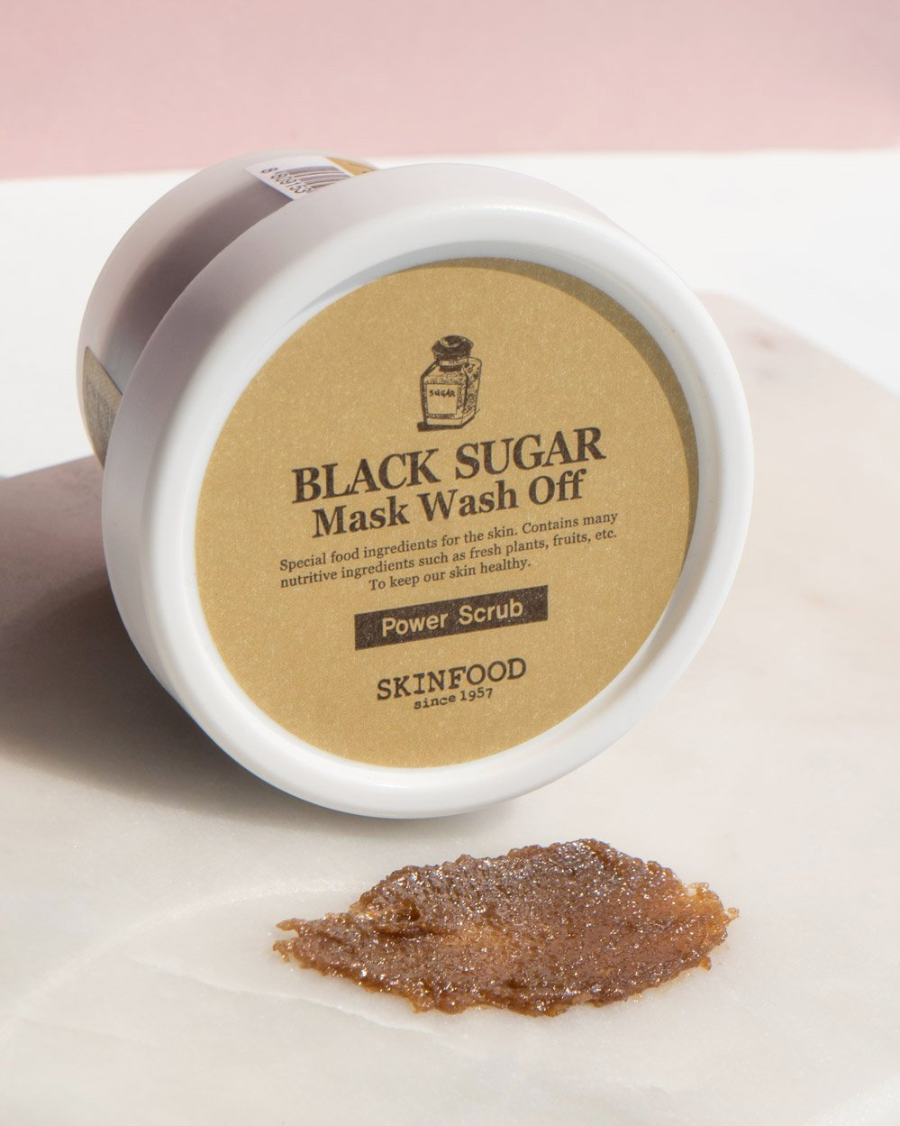 [SKINFOOD] Black Sugar Mask -- 100G  Wash Off