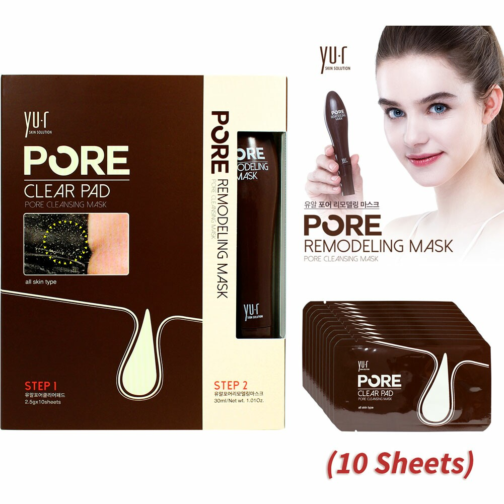 YU.R Pore Remodeling Cleansing Mask 1 pc + 10pcs of Nose Clear Pads