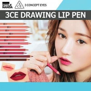 3CE (3 Concept Eyes) Style Nanda Drawing Lip Pen - Olhos e boca