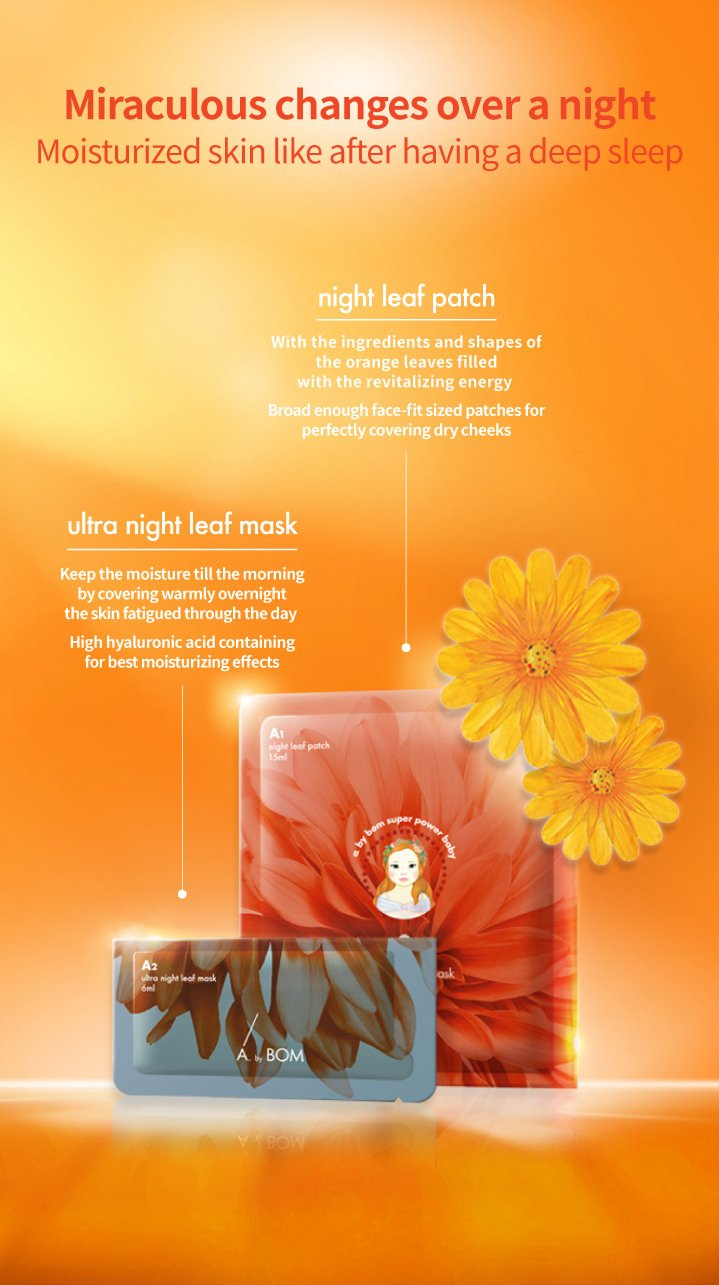 [ A by Bom ] · ULTRA NIGHT LEAF MASK - 2 Passos