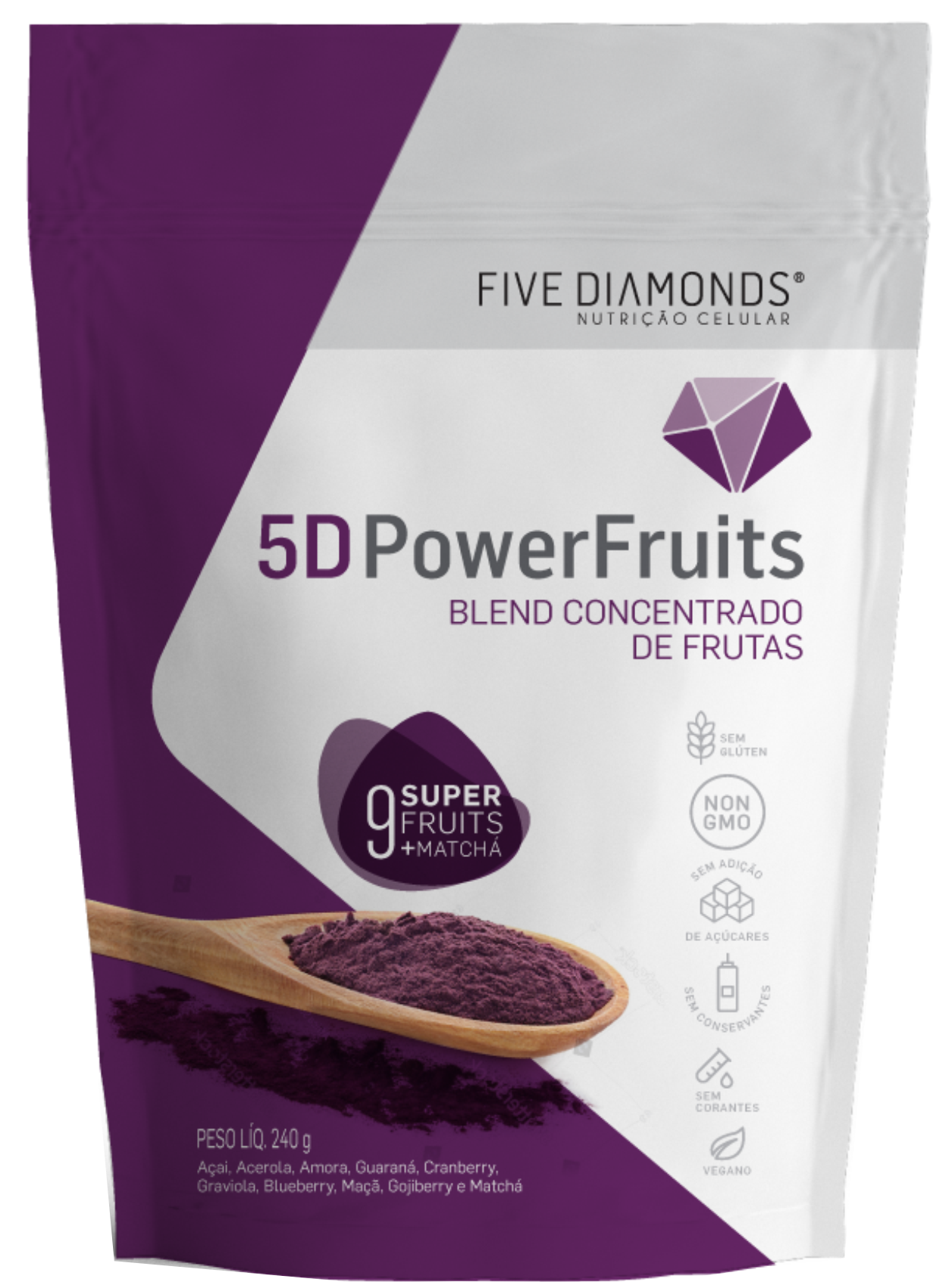 5D POWER GREEN(BLEND FRUTAS)-PCT 150gr