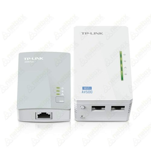 Kit Extensor de Alcance WiFi Powerline, 300Mbps WiFi e AV 500Mbps TL-WPA4220KIT