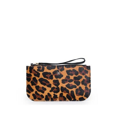 New Pouch Balaia em Couro Animal Print