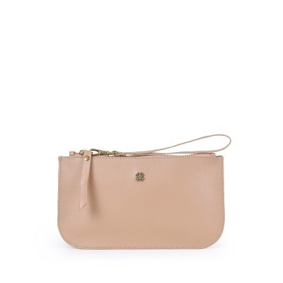 New Pouch Balaia em Couro Nude