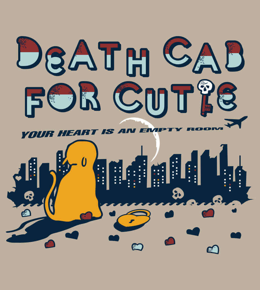 Camiseta Death Cab For Cutie - Your Heart Is An Empty Room - Feminina