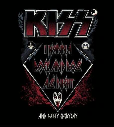 Camiseta Kiss - I Wanna Rock and Roll All Nigth - Masculino
