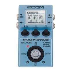 Pedal Zoom Ms-70cdr Multistomp Para Guitarra Com 137 Efeitos