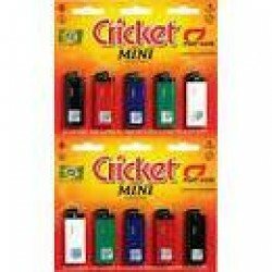 Isqueiro Cricket Mini Cartela Com 10 Un Original Fiat Lux