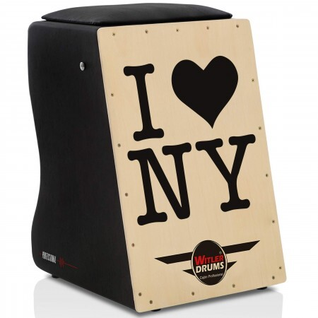 Cajón Personalizado Inclinado Black | Tampa Natural | PLACA FRONTEIRA