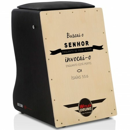Cajón Personalizado Inclinado Black | Tampa Natural | LEÃO DE JUDAH