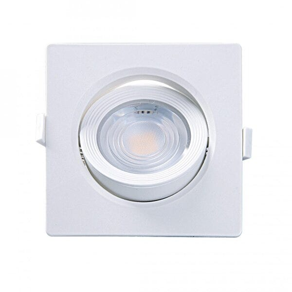 Mini Spot Embutir LED 3W Quadrado MR11 3000K Taschibra