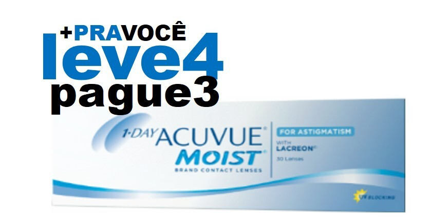 Combo 1 Day Moist Astigmatismo - Leve 4 e Pague 3